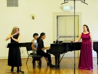 Virginia Hesse performs with Diane Grubbe (flute) and Eunah Cho (piano) at Canto: New Voices