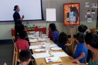 Roberto Romo - Cuentos art workshop at Hillview Library
