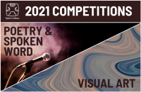 Visual Art and Poetry/Spoken Word competition graphic